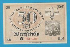 Germany Winterhilfswerk WHW 50 PFG 1940-41 Series B Block F S/B-Kroll 381 UNC