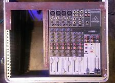 BEHRINGER XENYX 1204 USB W/ CUSTOM RACK MOUNT & (2) RIGHT ANGLE XLR CABLES