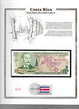 Costa Rica 3/12/1981 5 Colones P236d.12 GEM UNC w/ FDI UN FLAG STAMP Serie D