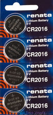 4 pcs 2016 Renata Lithium Watch Batteries FREE SHIP