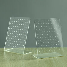 140*100mm Clear Earring Jewellery Holder/Stand/Plastic Board/Display 2x