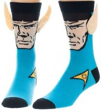 STAR TREK MISTER SPOCK CREW SOCKS BIG FACE WITH JUMBO EARS MR. VULCAN CHARACTER