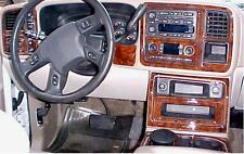 GMC SIERRA SLE SLT INTERIOR BURL WOOD DASH TRIM KIT SET 2003 03 2004 2005 2006