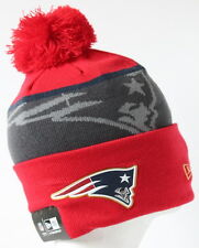 2015-16 NFL New England Patriots Adult New Era GOLD COLLECTION Beanie with Pom