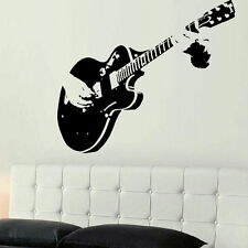 Guitar Guitarist Music Tendy Style Vinyl Wall Sticker Quote Decor Home Mural