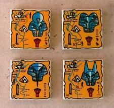 LEGO Egypt Tan Hieroglyph 2x2 Tile Set of 4 Adventures Desert Mummy Pharaoh