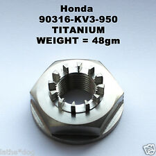 NSR250(MC28) rear wheel nut TITANIUM. 90316-KV3-950 Weight =48gm