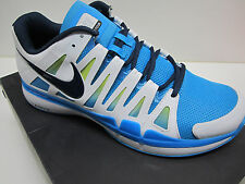 NEW MEN'S NIKE ID CUSTOM ZOOM VAPOR TOUR 9 CLAY (WHITE/BLUE) TENNIS SHOES SZ 12