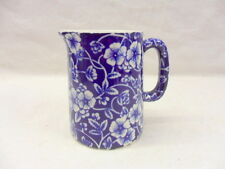 Blue victorian calico chintz mini cream jug pitcher jug by Heron Cross Pottery