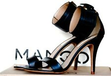 MANGO FETISH LEATHER SANDALS BLACK SIZES UK 5, 6, 7 & 8