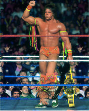 Ultimate Warrior Rare WWF 8x10 Photo {WrestleMania VI Pumping Fist}