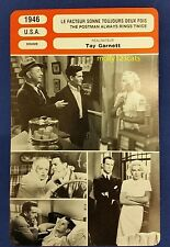 US Drama The Postman Always Rings Twice Lana Turner French Film Trade Card