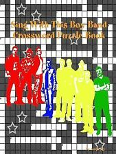 Sing with This Boy Band Crossword Puzzle Book by Aaron Joy (2015, Paperback)