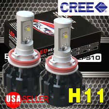 2X 6000K White H11 80W LED Car Headlight Bulbs Kit High Beam Conversion lights