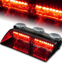 16 LED Flashing Emergency Strobe Light Bar Beacon Lamp for Car Truck Red/Red