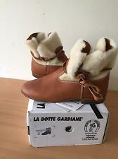 shearling Real Fur Brown Boots, Size 41, Uk 8