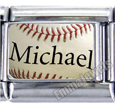 Unique Baseball Name Custom 9mm Italian Photo Charm NEW