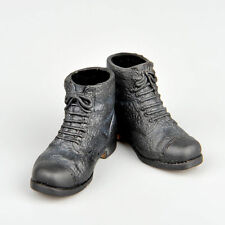 1/6 WWII Men Doll Custom Black Short Boot Leather Shoes F 12'' Action Figure