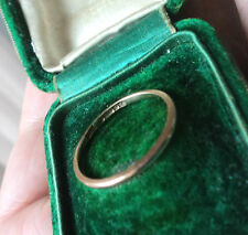 9 carati oro rosa wedding Band Anello H / M 1948 William MANTON-dimensione N della dimensione.