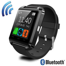 Black Bluetooth Smart Watch Wrist Clock Phone Mate For Android ISO Samsung HTC