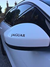 4 x JAGUAR WING MIRROR DECALS STICKERS VINYL IN CUSTOM COLOUR