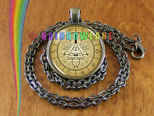 Gravity Falls Bill Cipher Wheel Necklace Pendant Jewelry Charm Gift Gifts