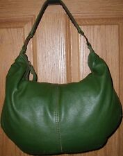 EUC High Quality Large Green Soft Leather Lucky Brand Hobo Shoulder Bag Purse