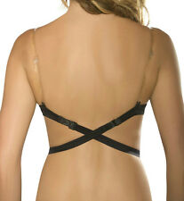 NEW LINGERIE SOLUTIONS by FASHION FORMS Low Back Bra Strap - 1 CLEAR STRAP