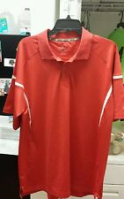 NEW CHAMPION DOUBLE DRI FIT GOLF SHIRT RED MSRP $55.00 M