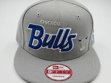 Chicago Bulls Throwback Gray 9FIFTY NBA New Era Custom Snapback Hat Cap