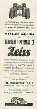 W3204 Binoccoli Prismatici ZEISS - Pubblicità 1933 - Advertising