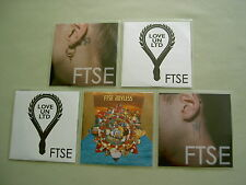 FTSE job lot of 5 promo CD album/singles Joyless Tidal Wave II Love Un Ltd