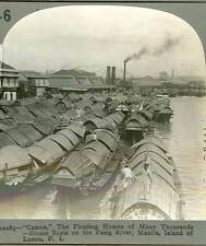 "Wsa5444 Keystone 10085 ""Cascos"" House Boats on Pasig River Manila Philippines D"