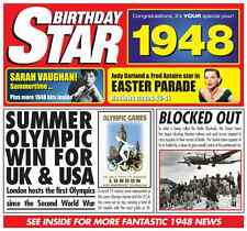 68th 1948 Birthday Gifts - 1948 Chart Hits Britpop CD and 1948 Greetings Card