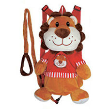 "Backpack 14"" Harness Leash 3-in-1 Plush Lion Brown Red New"