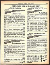 1961 BENJAMIN Single-shot & Repeating Air and CO2 Gas Rifle AD 4 models shown