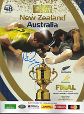 Richie McCaw SIGNED 2015 Rugby World Cup FINAL Programme ALL BLACKS