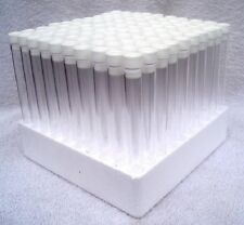 100 x Test tubes with tops & tray,150mm x 16mm, 10 colours to choose from .NEW