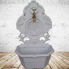 Wandbrunnen Alu Guss weiß Haus+Garten Highlight im Gartenbau Spring Zierbrunnen