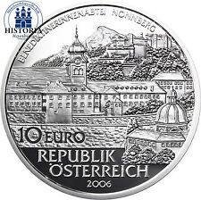Österreich 10 Euro Silber 2006 PP Silbermünze Stifte & Klöster - Stift Nonnberg