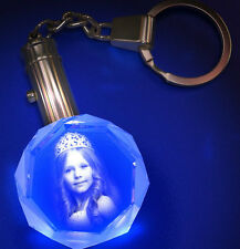 Personalized Crystal Round Keychain High End Laser Engraved Your Own Image