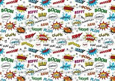 background effect A4 cake topper icing sheet Pow ND5 superhero