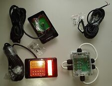 Small boat trailer lights modular system with submersible junction box