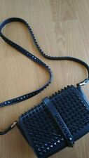 ZARA STUDDED MESSENGER CLUTCH BAG IN BLUE