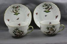 Herend Rothschild Bird Cup & Saucer (s) 1726  Sold Individually Older Backstamp
