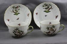 Herend China Rothschild Bird Cup & Saucer (s) 1726