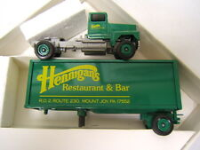 Winross Hennigan's Restaurant & Bar Mt Joy PA Tractor Trailer 1/64 Diecast MIB