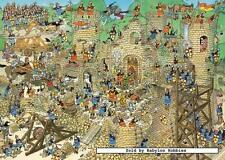 5000 pcs jigsaw puzzle: Jan van Haasteren - Castle Conflict (Cartoon, History)
