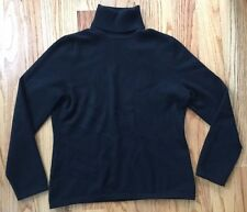 LORD & TAYLOR WOmen's Cashmere Turtle Neck Sweater Black Size  M