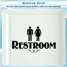 Restroom vinyl Sticker door Bathroom Sign Men Women Restroom Art Decal 068